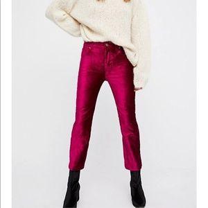 Free people velvet pants, size 29, like new